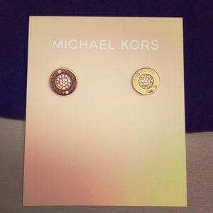 Michael Kors Rose Tone Earrings